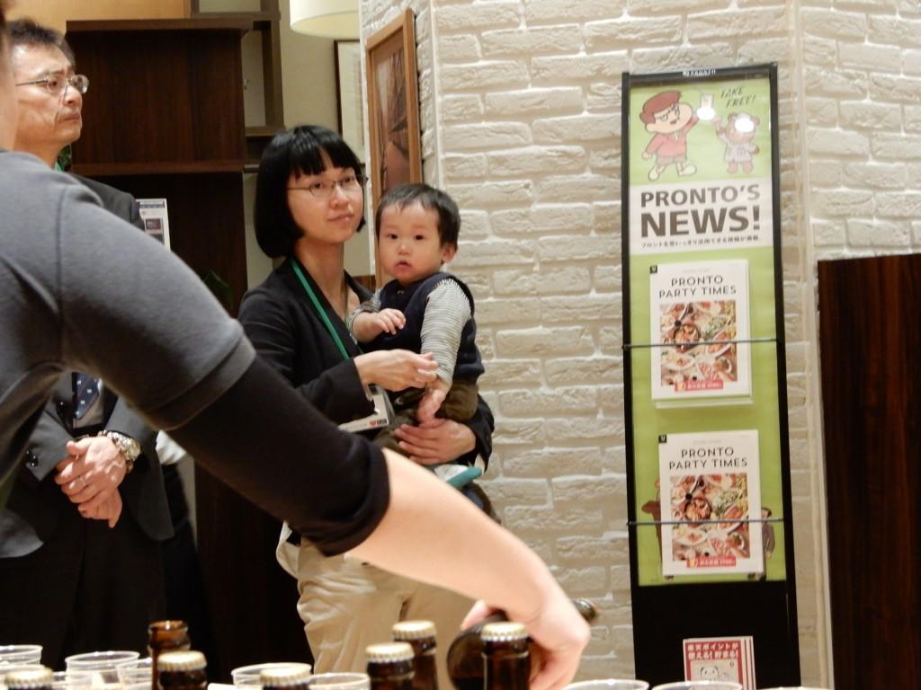 小千谷市から参加した坂本さんと坊ちゃん