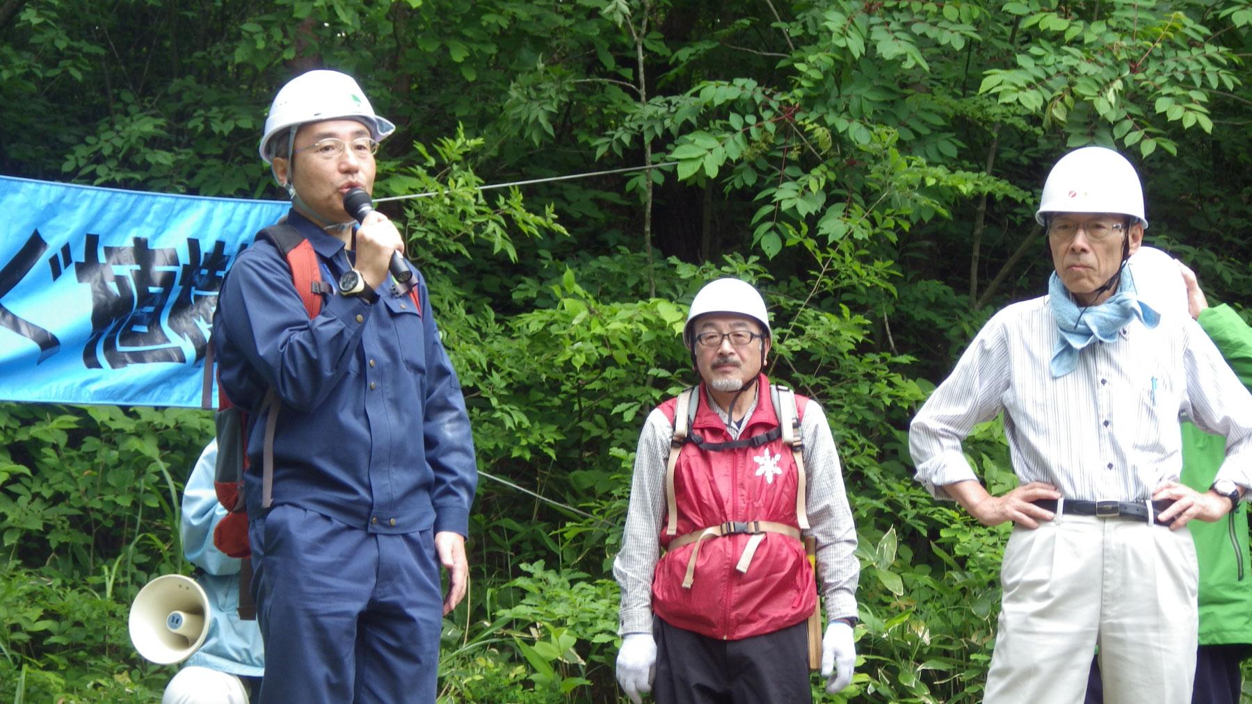 高井秀章青森森林管理署長さんのあいさつ